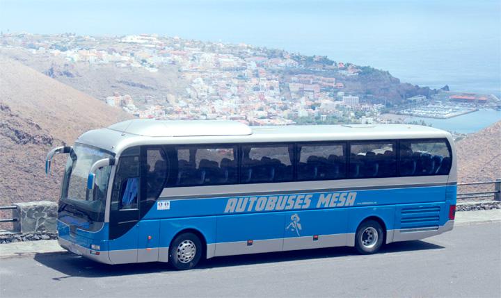 Transport verkehrsflugh fen teneriffa la gomera mesa busse for Empresas de transporte en tenerife